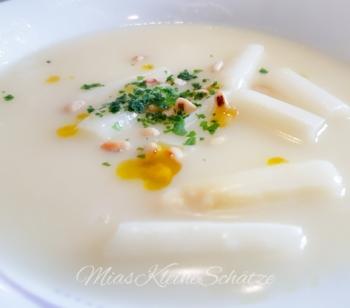 Rezept: vegane Spargelcreme Suppe